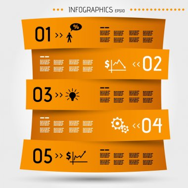 orange zig zag infographic template