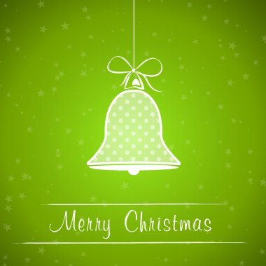 green dotted christmas bell frame