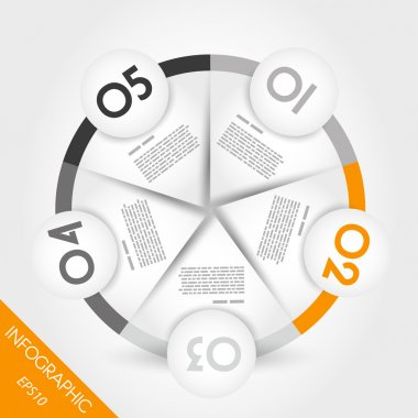 orange infographic ring with border