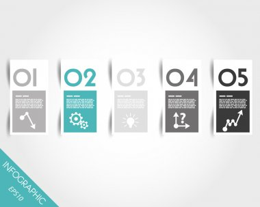turquoise stickers with numbers and shadow