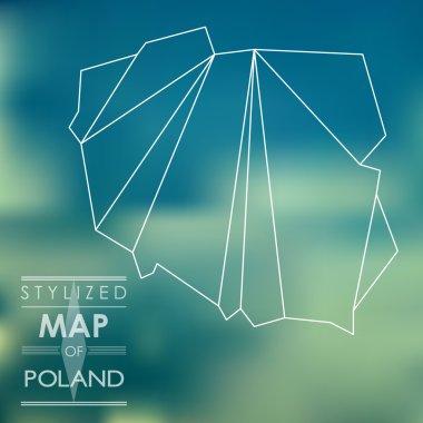 stylized map of Poland