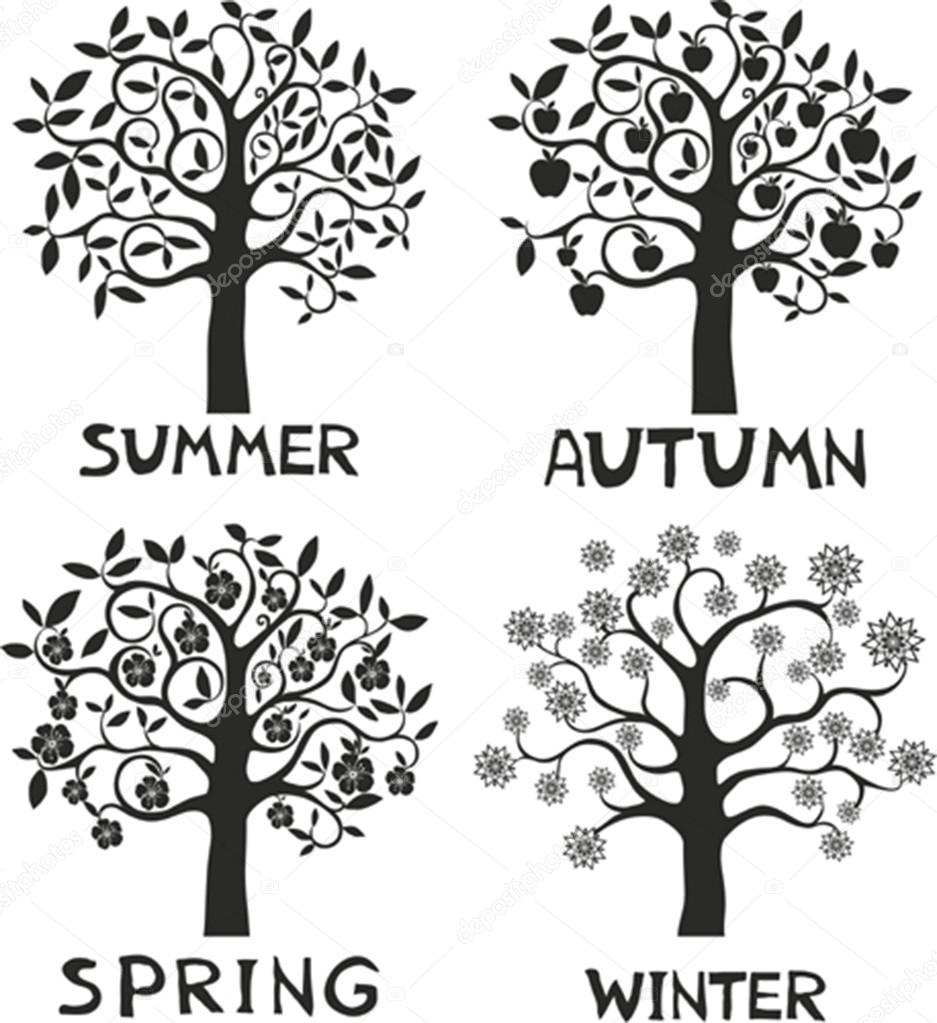 Four seasons - spring, summer, autumn, winter.