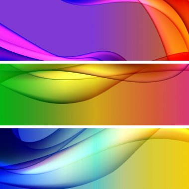 Vectors - Colorful Web Banners Backgrounds