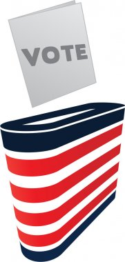 Vector image of ballot box and vote