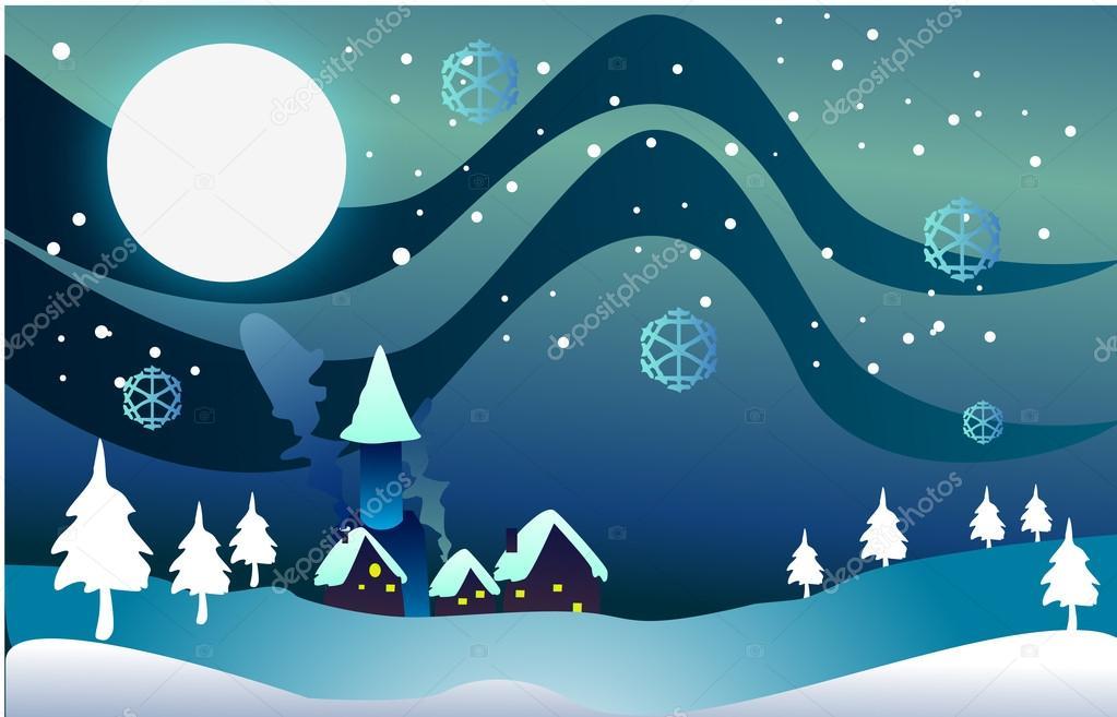Weihnachten Dorf ClipArt — Stockfoto © kozzi2 #13525326