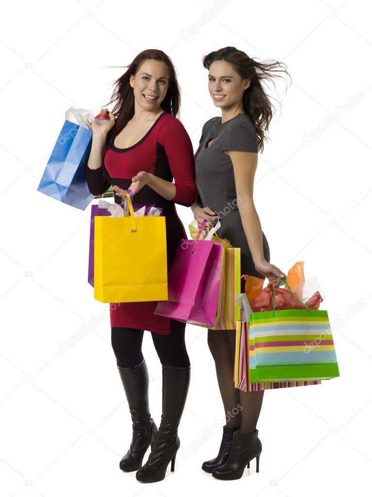 Gorgeous ladies with shopping bags — Stock Photo © kozzi2 #14089421