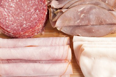 assorted sliced meat