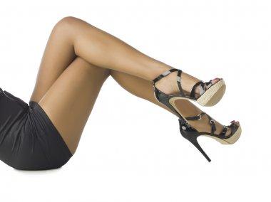 female legs wearing high heels