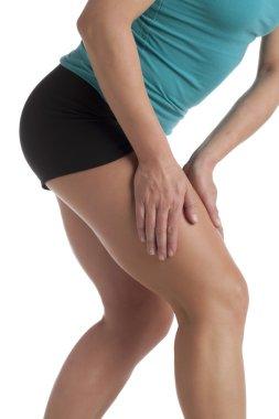 a woman leg with calf pain