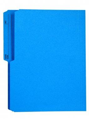 bright blue file folder