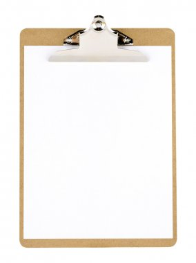 Clip board and paper stock vector