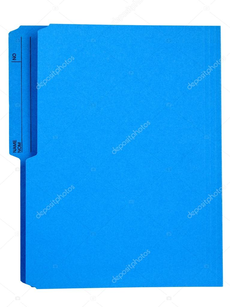 bright blue file folder