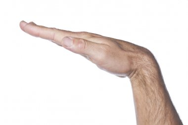 mans hand with open palm