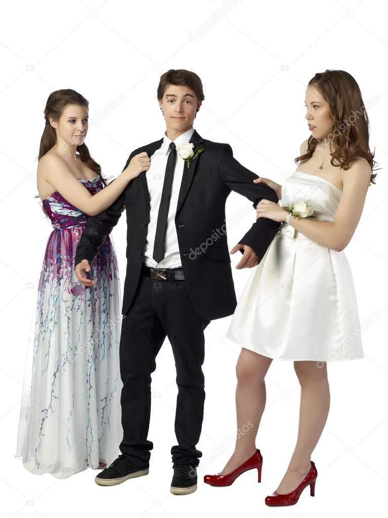Two Girls Fucking One Guy