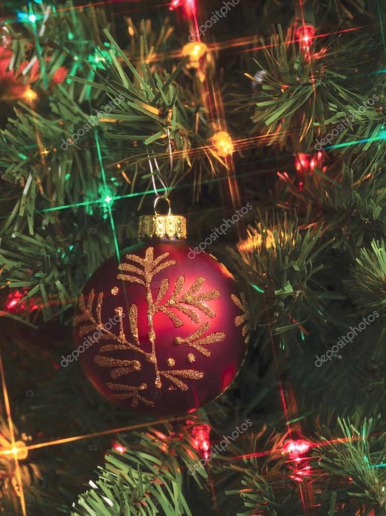 Kerstbal en verlichting — Stockfoto © kozzi2 #19434021
