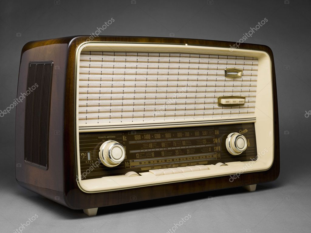 altes radio stockfoto kozzi2 19487653