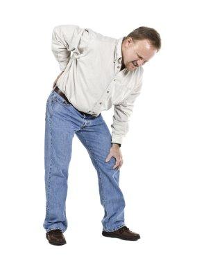 aged man having back pain