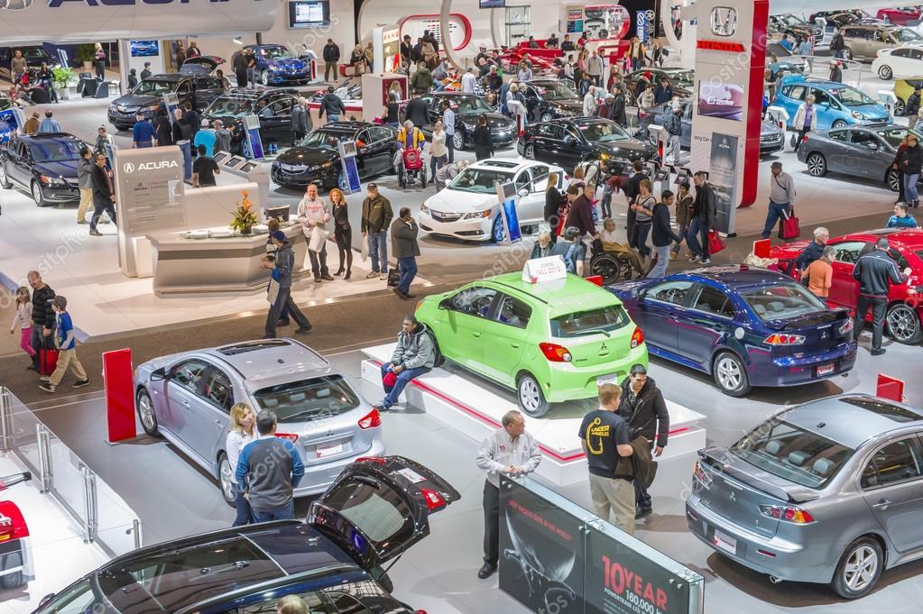 Car Show Floor Panoramic Photo