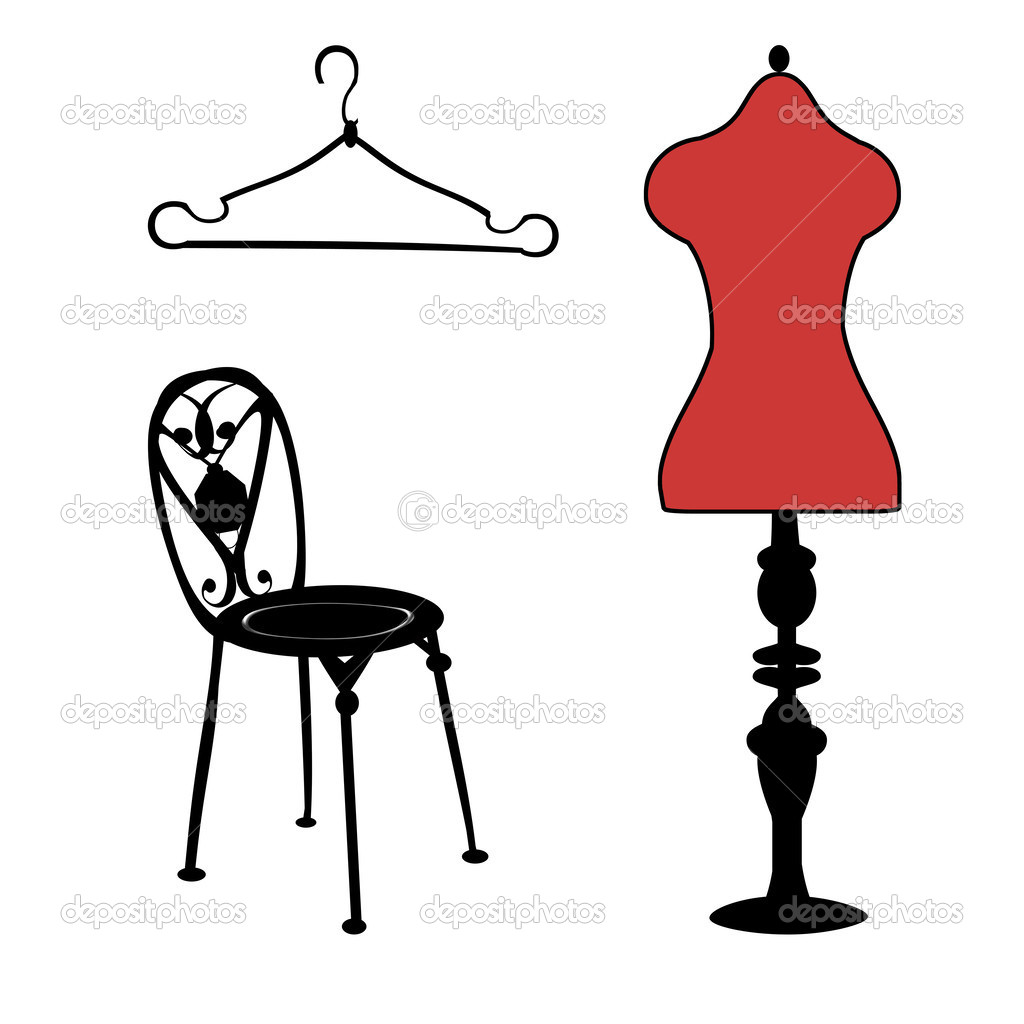 Template. Mannequin. Chair. Hanger. — Stock Photo © alenalihacheva ...