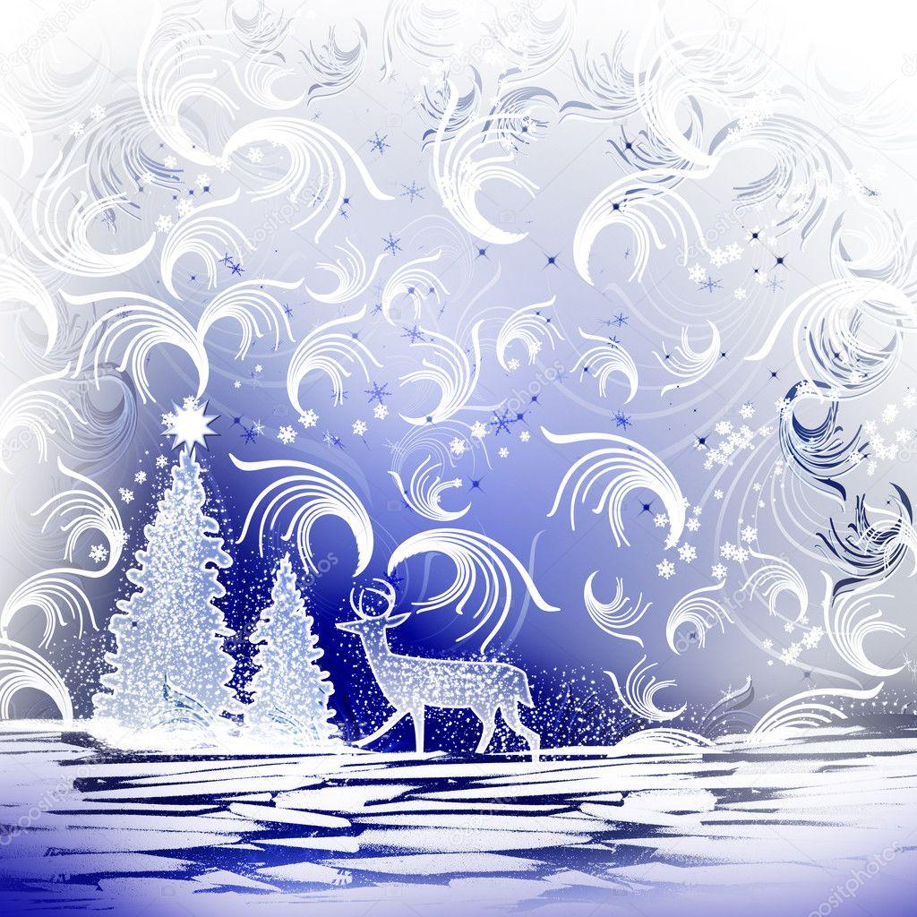 Christmas. Landscape.