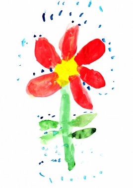 Child's Drawing of Flower