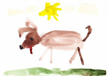 Dog Children's Drawing