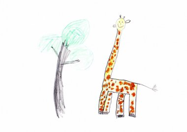 Giraffe Children's Drawing