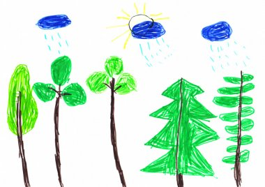 Summer Rain Children's Drawing
