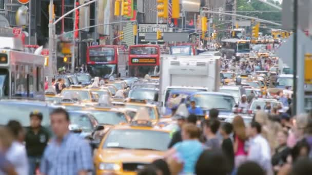 Crowded street, New York