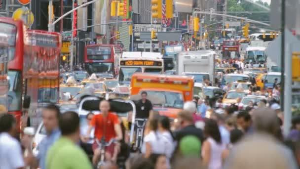 přeplněné ulice, new york