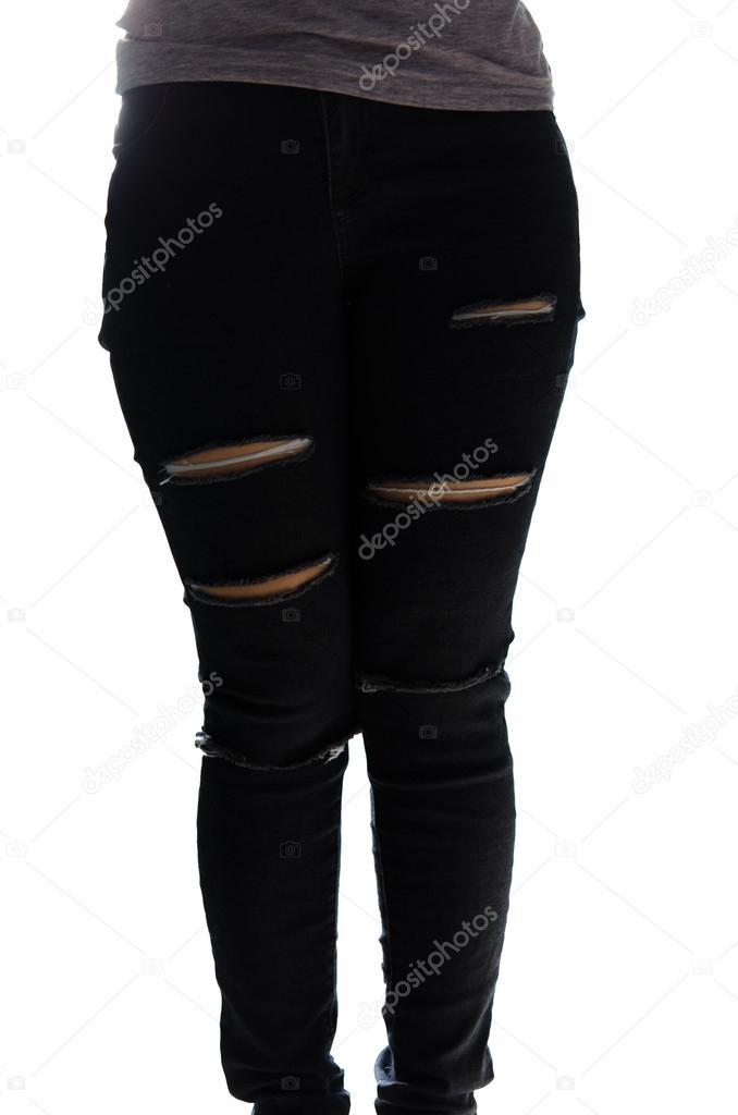 Yırtık Kot Pantolon Stok Foto Aoo8449 32485827