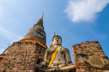 Buddha statues and temples.