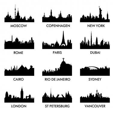 City silhouette 12