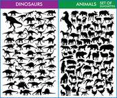 Photo Dinosaurs and animals