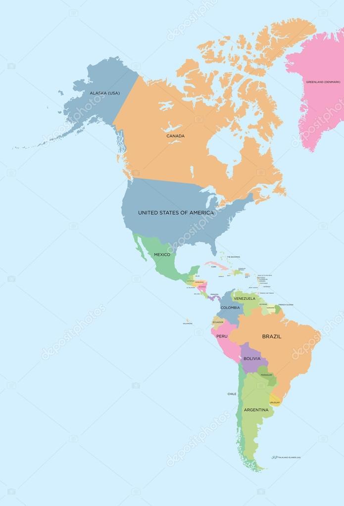 Mapa Politico De America Del Norte.Fotos Mapa De America Del Sur Con Colores Color Mapa