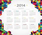 Fotografie Vector template design calendar 2014