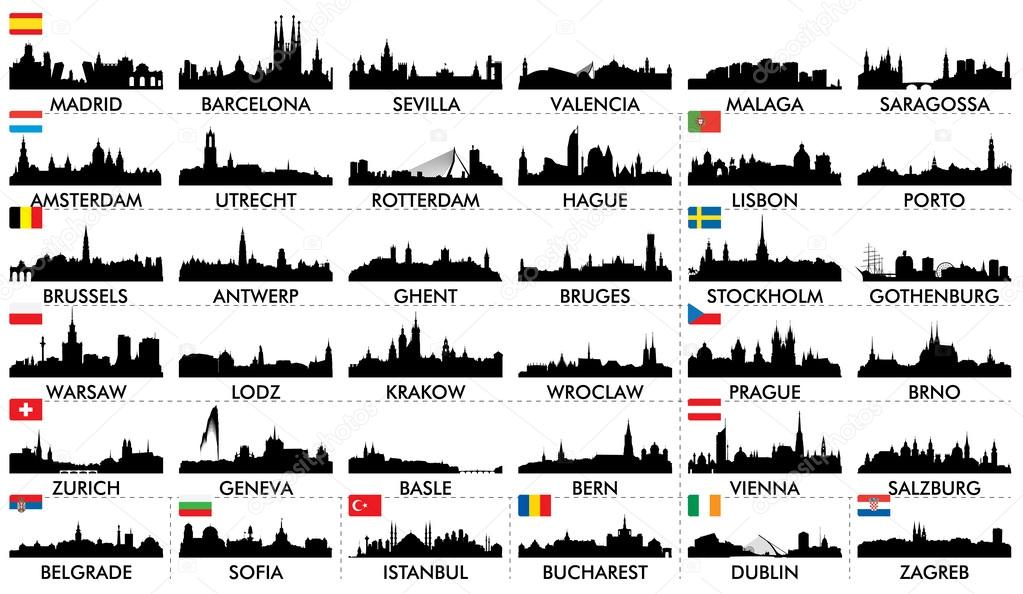 City skyline European countries2
