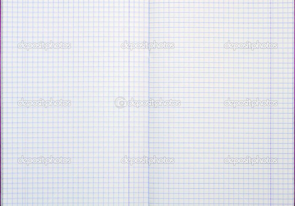 市松模様のシート 白い背景を持つノートブック ストック写真