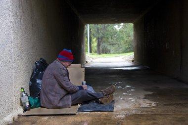 Homeless man finds shelter