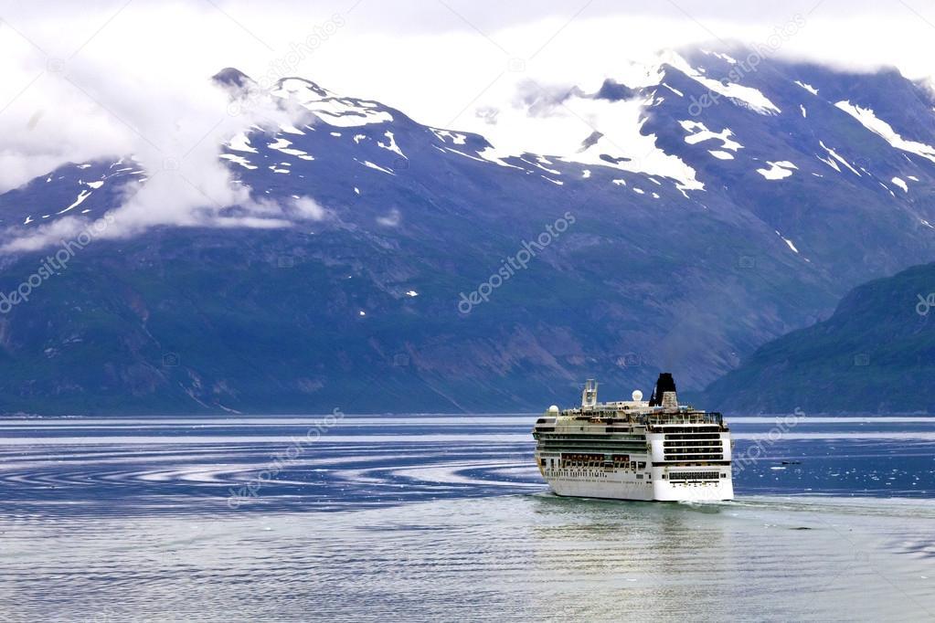 Cruise ship sailing in Glacier Bay