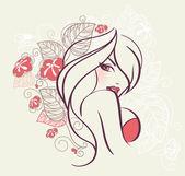 Květinové Ženská krása
