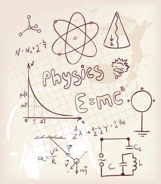 Vector illustration of Physics set