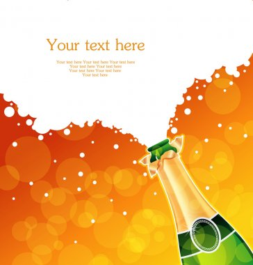 Vector illustration of champagne stock vector