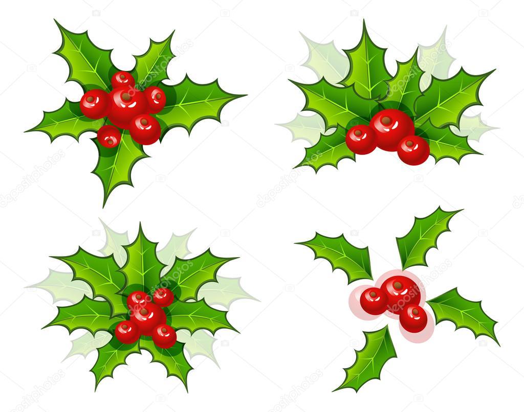 holly weihnachten zweig festlegen stockvektor sonneon 13717283. Black Bedroom Furniture Sets. Home Design Ideas