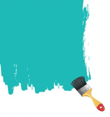 Vector illustration of Paint brush with blue splash clip art vector
