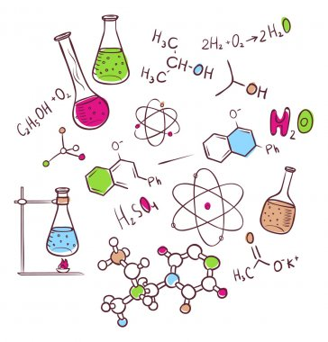 Hand draw chemistry background
