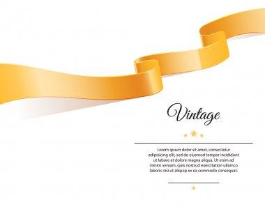 Vector illustration of Gold ribbon stock vector