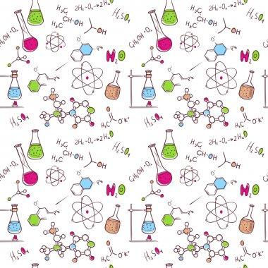 Hand draw chemistry pattern