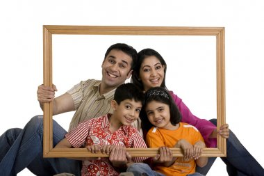Family with frame