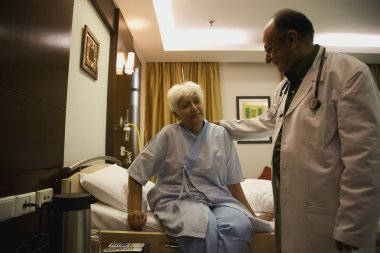 Doctor with his patient